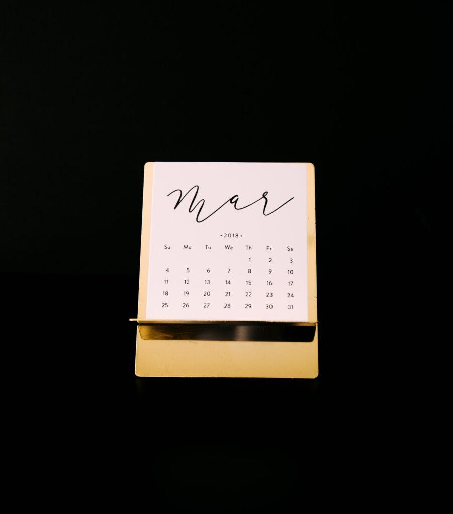 week 13 kalender