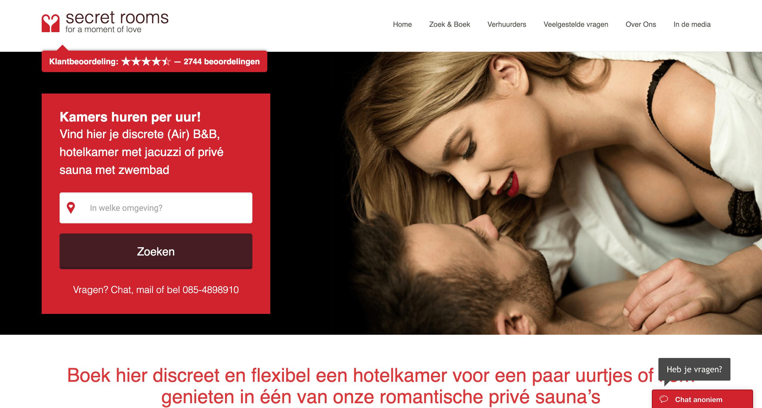secretrooms website